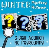 Winter Addition Coloring Activities, Adding Three Digit No Regrouping Sheets