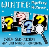 Winter Subtraction Color By Number 2-Digit With And Without Regrouping