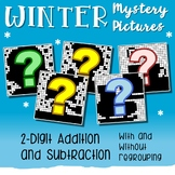 Hidden Pictures Winter Adding And Subtracting Color By Number Worksheets