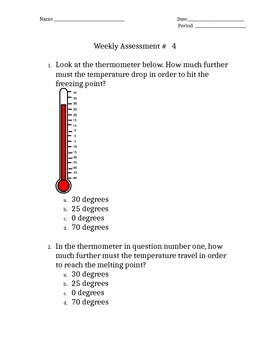 5.5B and 3.5C STAAR Weekly Assessment