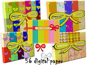 Digital Paper - Bundle - Clip Art - Personal or Commercial Use