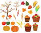 56 Fall Clipart Harvest Clip art Scarecrow Autumn Image leaves Paper Background
