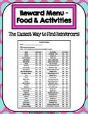 56 Item Reward Menu - Food & Activities