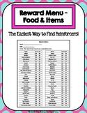 56 Item Reward Menu - Food & Items