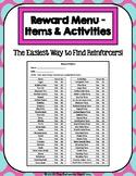56 Item Reward Menu - Items & Activities