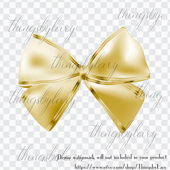 56 Luxury Gold Bows and Ribbons Clip Arts PNG Transparent