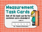 56 Measurement Task Cards for Measurement Tools (2.MD.A.1) *Answer Key Included!