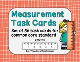56 Measurement Task Cards for Estimating Lengths (2.MD.A.3) Answer Key Included!