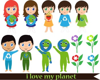 56 PNG Files- Earth Day/ Save the Earth- Clip Art -300 dpi 065