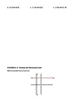 5.6 The Standard Form of a Linear Equation (Day 1)