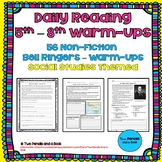 56 Warm-Ups Bell Ringers - Standards-Based - Non-Fiction for 5th-12th Grade