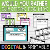Would You Rather Questions for Kids | Distance Learning