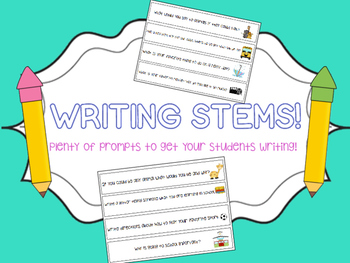 56 Writing Prompts/Stems!