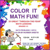 92 PAGES OF GREAT MATH LESSONS--grds3-5!  ENTIRE YR--SEASO