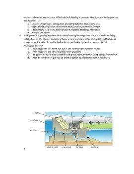 5.6C Light, 5.7C Alternative Energy, 5.5B Properties of Water STAAR Quiz