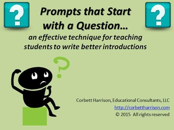 "573 Writing Prompts with ""Question Leads"""