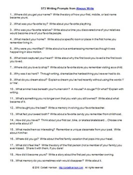 """573 Writing Prompts with """"Question Leads"""""""