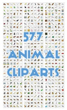 577 ANIMAL THEMED CLIPART IMAGES