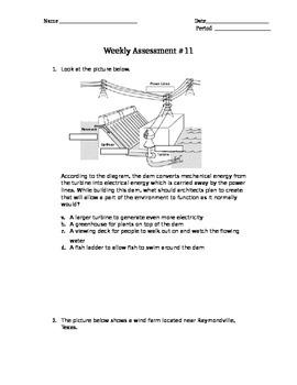 5.7C Alternative Energy & 4.7C Resources STAAR Assessment