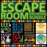 58 ESCAPE ROOM BUNDLE: Science, History, Math, Geography..