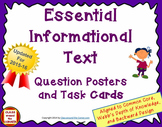 58 ESSENTIAL INFORMATIONAL TEXT QUESTION POSTERS AND TASK CARDS