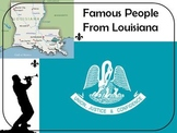 58 Famous People From Louisiana Task Cards