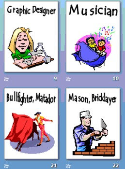 58 Professions Presentation, Flashcards or Signs for Any Language