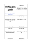 58 Reading task cards