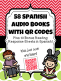 58 Spanish Audio Books with QR Codes {Plus 10 BONUS Reading Response Sheets!}