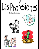 Spanish Professions 58 Slide Presentation, Flashcards or Bulletin Board Signs