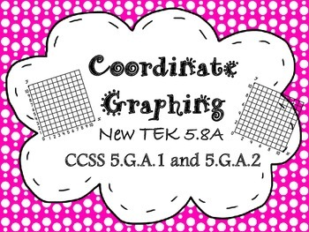 STAAR TEK 5.8A  Coordinate Graphing Task Cards for Guided