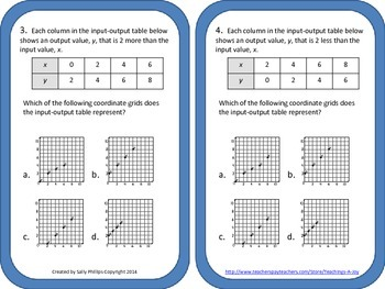 5.8C Coordinate Graphing Ordered Pairs in Quadrant I
