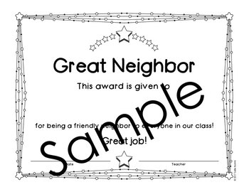 End of the Year Awards - Editable - Black and White