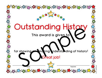 End of the Year Awards - Editable - Color