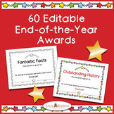 End of the Year Awards - Editable - Color and Black/White Bundle