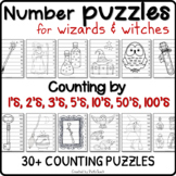 59 Harry Potter coloring NUMBER PUZZLES –  Counting by 1s,