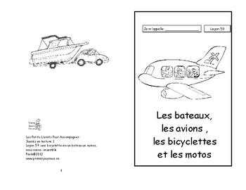 59)Les bateaux, les avions- livret de lecture ENFANT C1 1ère-2e