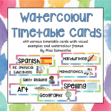 59 Watercolour Visual Timetable Cards