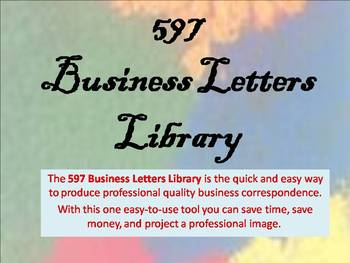597 Business Letters Library