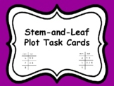 Stem and Leaf Plot Task Cards (aligned to TEKS 5.9A)