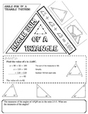 5E CCSS Math lesson: angle sum of a triangle and DOODLE NOTES