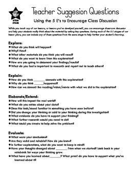 5E Classroom Questions
