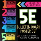 5E Lesson Bulletin Board Poster Set and Lesson Plan Template