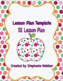 5E Lesson Plan Template