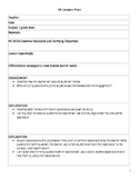 5E Lesson Plan Template