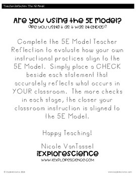 Teacher Reflection: Are You Using The 5E Model?