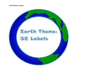 5E Model Labels -- Earth Theme