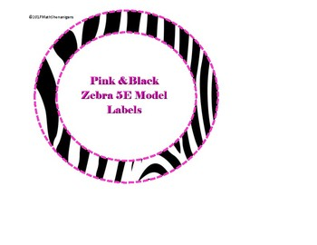 5E Model Labels -- Pink and Black Zebra