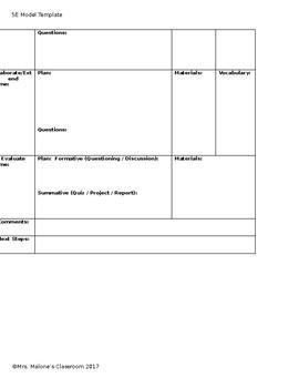 5E Model of Instruction Template-Editable