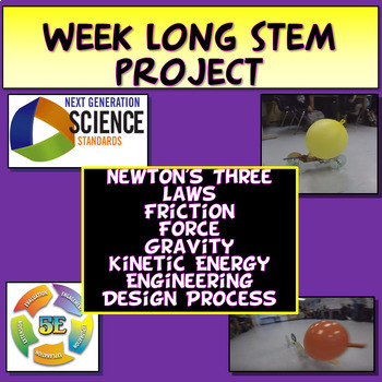 5E NGSS Aligned Balloon Cars